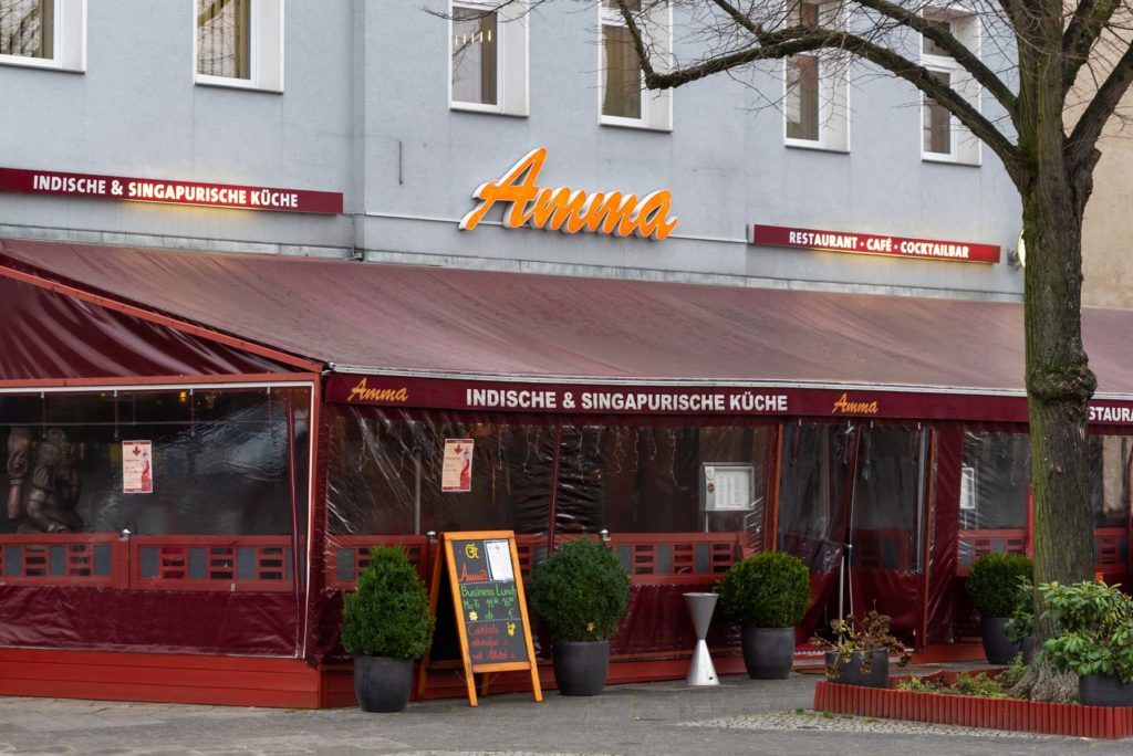 Außenansicht Restaurant Amma Kirchhainer Damm