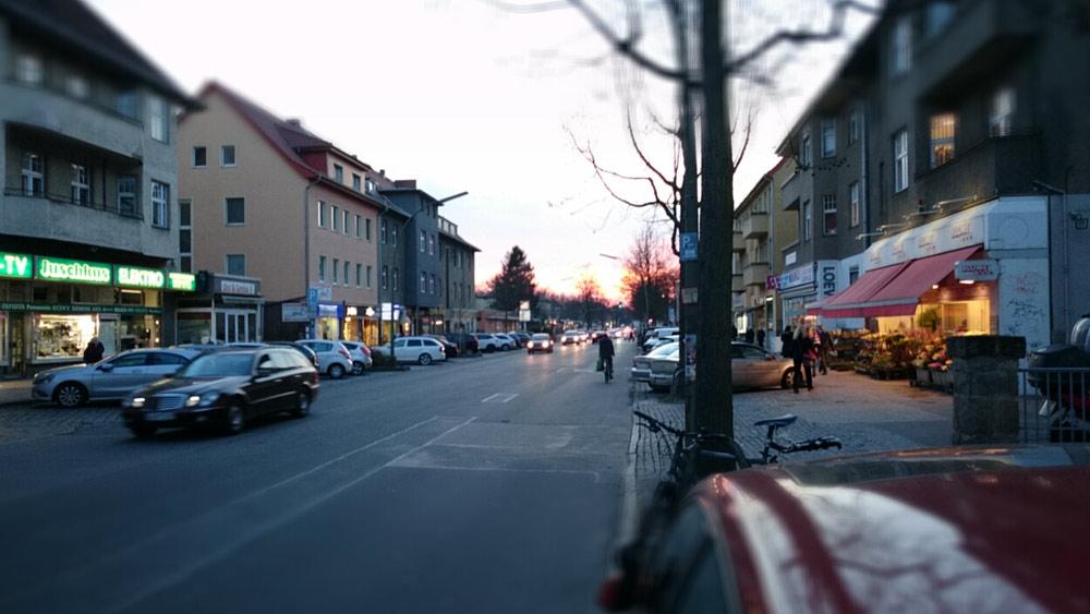 Abendansicht Bahnhofstraße Lichtenrade