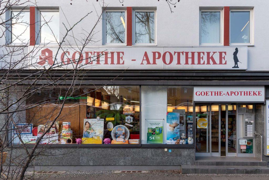 Ladenansicht Goethe-Apotheke