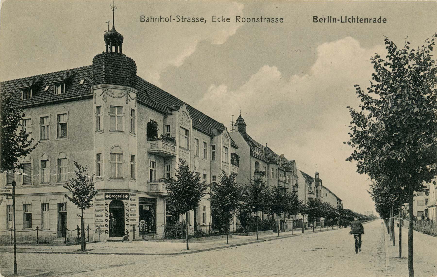 Foto Bahnhofstraße Ecke Roonstraße Lichtenrade 1915