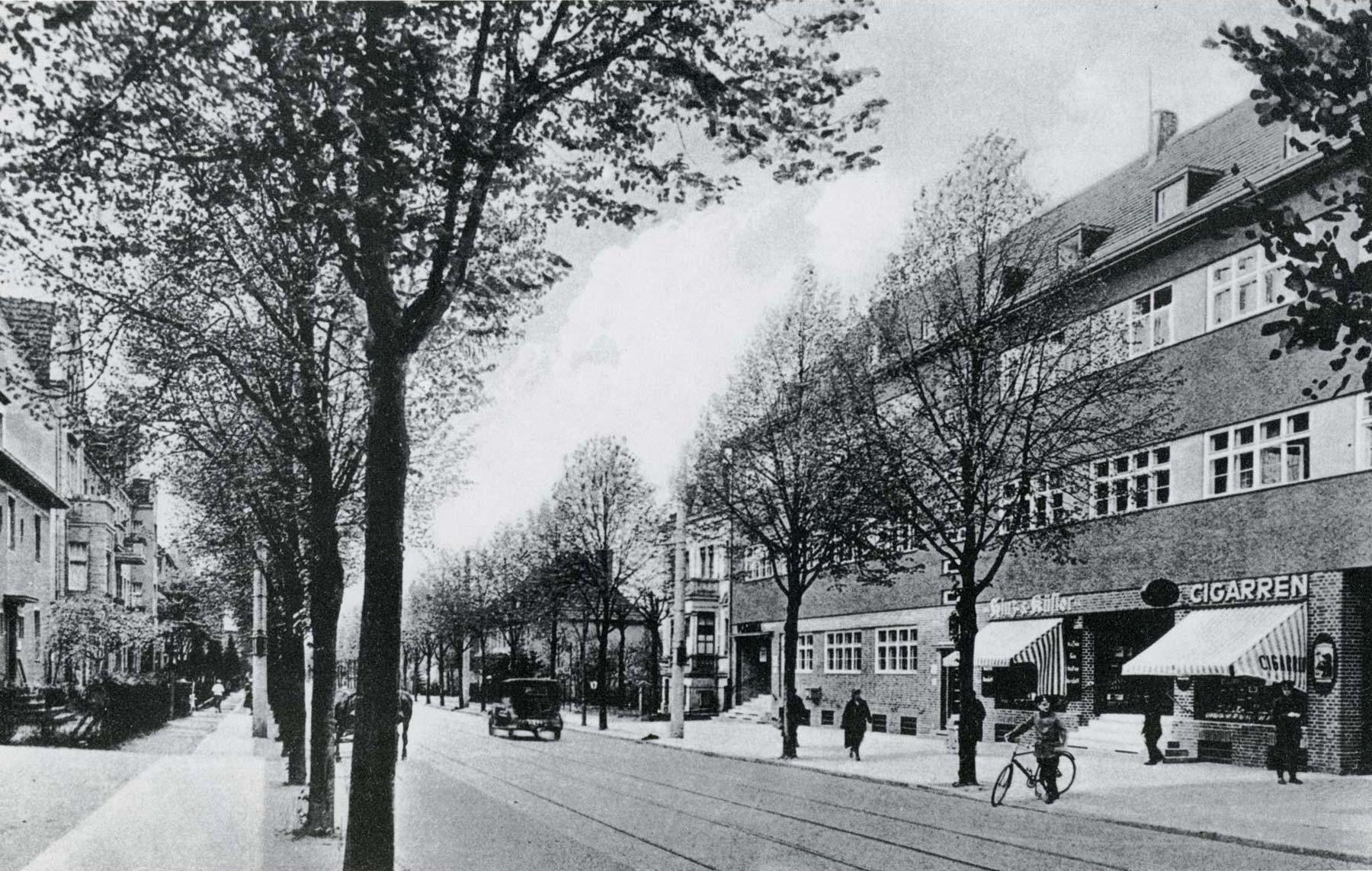 Foto Bahnhofstraße Lichtenrade um 1920