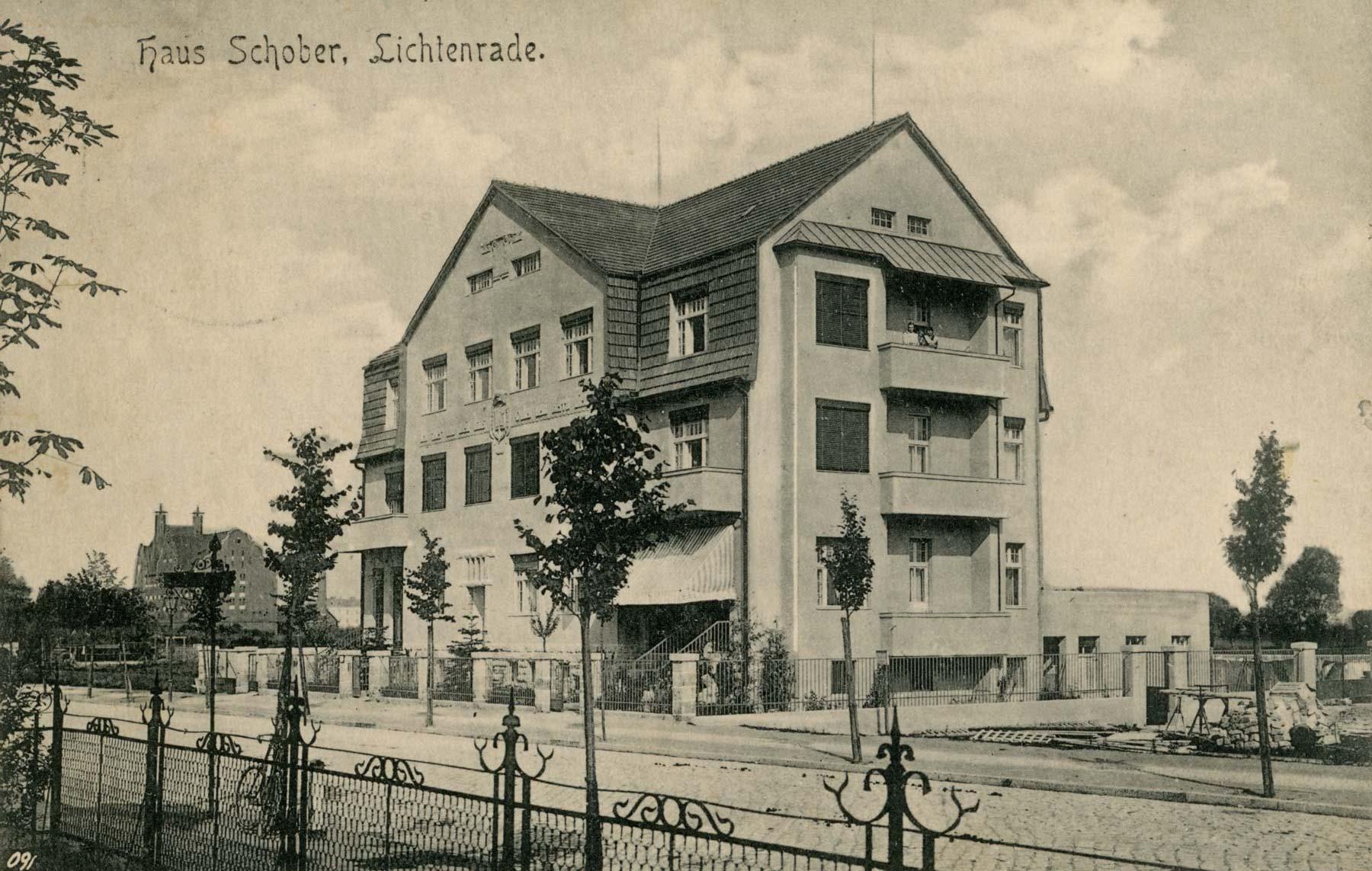 Foto Haus Schober Bahnhofstraße 1910