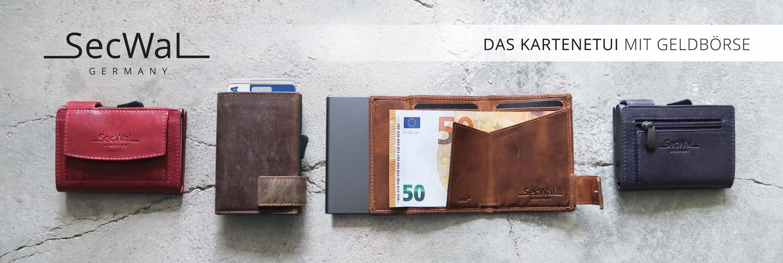 SecWal Kartenetui mit Geldbörse