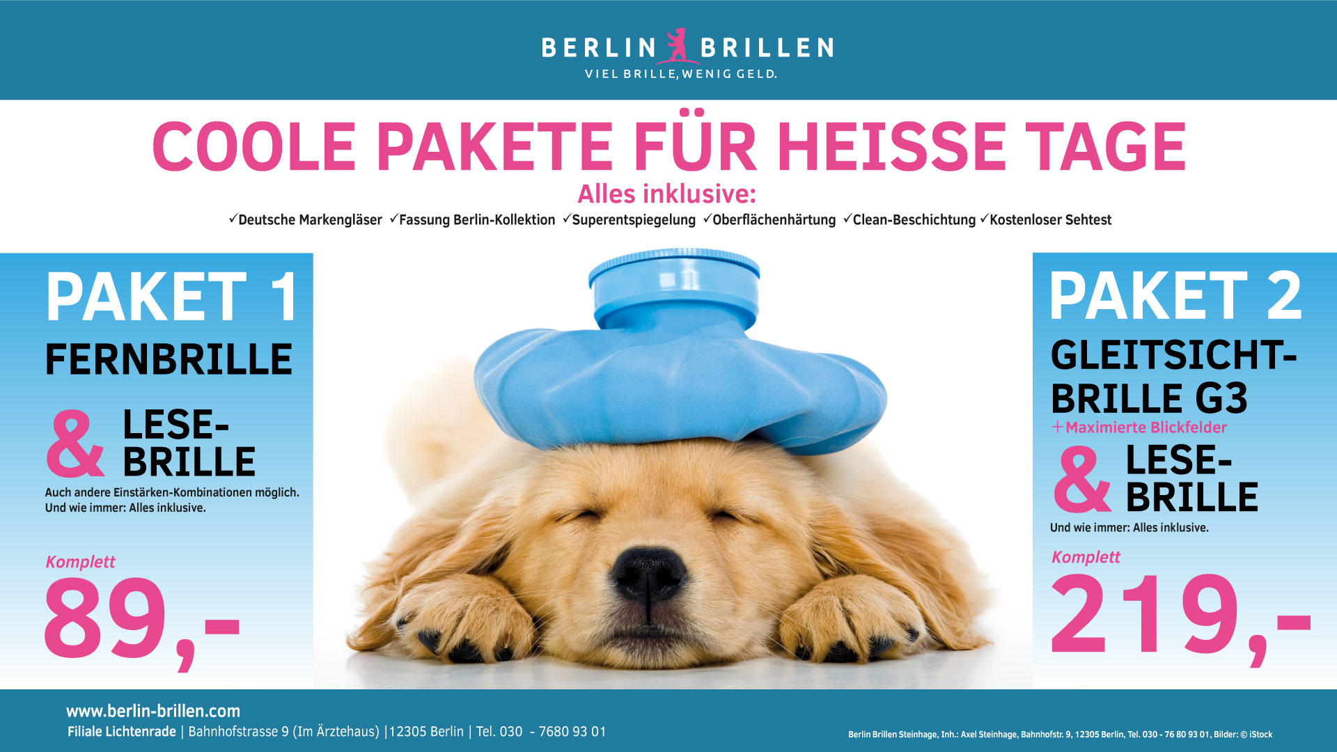 Berlin Brillen Angebot Juli / August